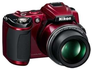 NIKON COOLPIX L120 DIGITAL CAMERA W/CASE RED 21x optical Zoom NIKKOR