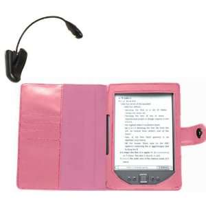 Navitech Pink Leather Flip Open Book Style Carry Case