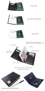 Ax Genuine Leather Passport Cover Credit Card Ticket Holder Wallet