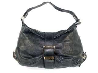 Black Leather Heidi Womens Large Satchel Shoulder Handbag Purse