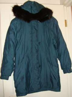 LESLIE~FAY~lady~WARM~winter~JACKET~FOX~FUR~HOODIE (M) @