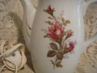 Vintage Royal Sealy Electric Tea/Coffee Pot Rose Designe/Gold Trim