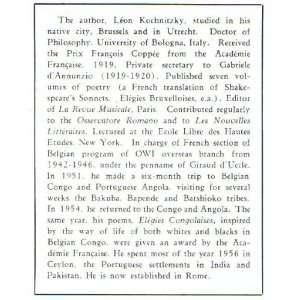 Negro Art in Belgian Congo: Leon Kochnitzky: Books