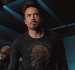 Black Sabbath Tony Stark IRON MAN Avenger Womens Black T Shirt FREE