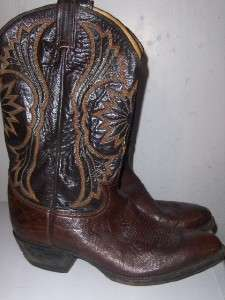 Mens Black Label TONY LAMA Brown Western Cowboy Boots 10.5 D