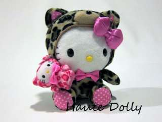 Authentic Hello Kitty Sanrio TokiDoki Style Leopard Cheetah Plush Doll
