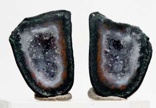 Geode pair Crystal Cluster Tabasco Mexico Tobasco Great Wire Wrapping