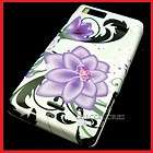 MOTOROLA DROID X X2 PURPLE FLOWER WHITE HARD COVER CASE
