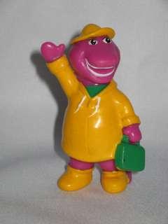 PBS Barney Purple Dinosaur School Time Raincoat Figure Toy