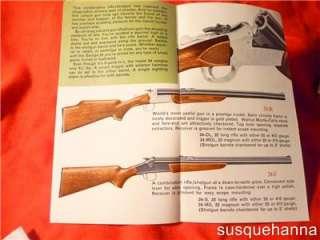 Vintage Savage model 24 shotgun rifle combo Pamphlet original   not a