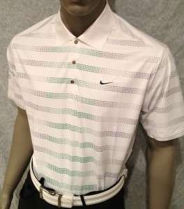 100) L 2012 Nike Tiger Woods Golf Tour Masters Saturday Edition Polo