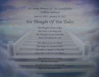 WE THOUGHT OF YOU TODAY PERSONALIZED MEMORIAL POEM GIFT FOR DECEASED