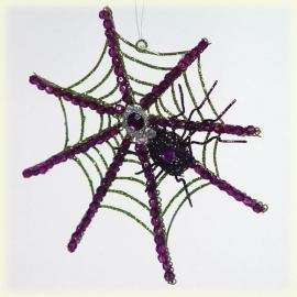 Katherines Collection Halloween SPIDER WEB Ornament NEW