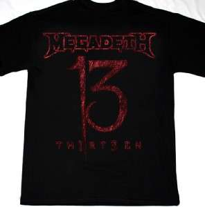 MEGADETH THIRTEEN 13 DAVE MUSTAINE METALLICA ANTHRAX HIRAX SOD NEW