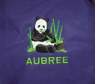 Panda Bear Purple Lunch bag cooler PERSONALIZED NEW