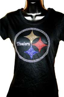 Gold Pittsburgh Steelers Bling Womens Thermal or Tank