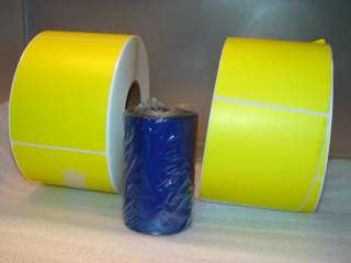 Case Yellow Thermal Labels Transfer + Ribbons Kit NEW