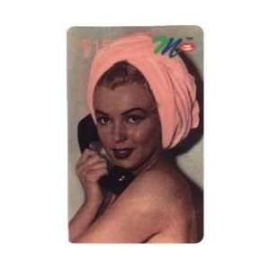 Marilyn Collectible Phone Card $15. Marilyn Monroe With Pink Towl On