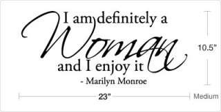 am definitely a Woman   Marilyn Monroe Wall Decals