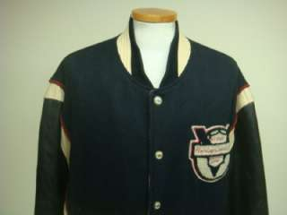 VINTAGE HARLEY DAVIDSON WOOL/LEATHER VARSITY JACKET SZ XXLARGE
