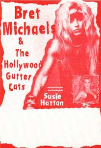 Unused cloth backstage pass for the POISON singer BRET MICHAELS 1991