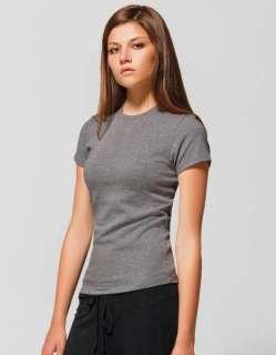 Bella Ladies Cotton/Spandex Crew Neck Tee Shirt T Shirt