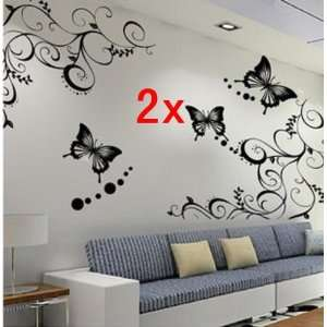 com Neewer 2x Fashion Black/White Butterfly Decorative Wall Paper Art