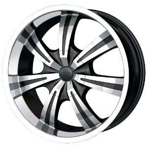 20x8.5 DIP Gunner (D88) (Black w/ Machined Face & Lip) Wheels/Rims