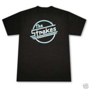STROKES LOGO BAND Shirt MEN New BLACK