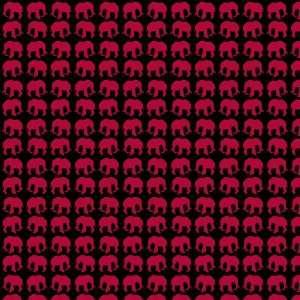 ELEPHANT PATTERN BLACK & MAROON Vinyl Decal Sheets 12x12