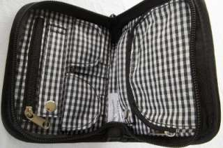 KIMBERLIN DALMATION DOG PRINT ON SMALL BLACK ZIPPER JEWELRY TRAVEL BAG