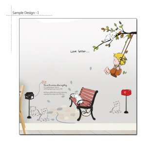 Swinging Baby Cats Nursery Children Room Decor Wall Sticker