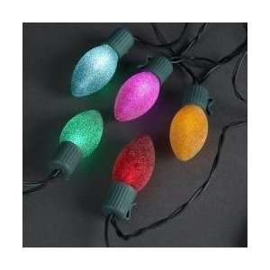 Set of 10 Battery Operated Sugared MultI Colored LED Christmas Lights