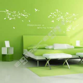 Tree Branches Bird Removable Kids Room Art Mural Wall Sticker Decal