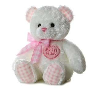 Aurora Plush Baby 14 inches Pink My First Teddy Bear Toys & Games