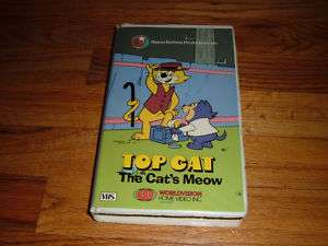 TOP CAT The Cats Meow HANNA BARBERA Clamshell VHS Video