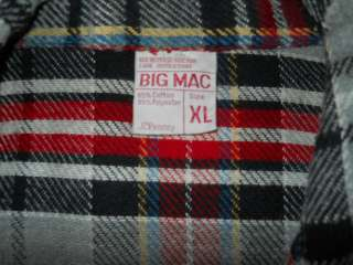 vtg 70S PENNEYS BIG MAC PLAID HEAVY FLANNEL SHIRT XL