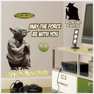 YODA WALL DECALS Classic Star Wars Movie Stickers