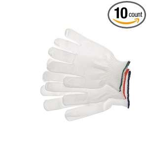 Berkshire BGL5.20M BCR Nylon Full Finger Knit Glove Liner, Orange Cuff