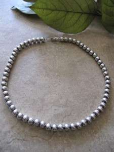 Lovely VINTAGE ITALY 925 Sterling Silver HEAVY Large BALL BEAD