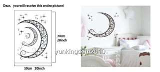 70*50cm REMOVABLE Moon and Stars Beautiful wall decor WALL Sticker
