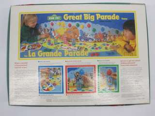 BRADLEY  SESAME STREET GREAT BIG PARADE Board Game EUC 100% Complete