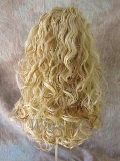 WIGS Strawberry and Pale Blonde Long Spiral Curls HEAT OK wig