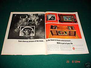1964 RCA TV Pictures Moon Stereo Console Television Ad