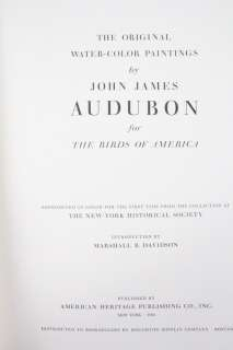 COMPLETE SET JOHN JAMES AUDUBON BIRDS OF AMERICA AMERICAN HERITAGE