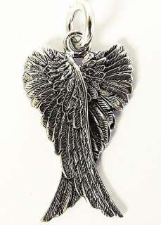CROSS ANGEL BIRD WING STERLING 925 SILVER MENS PENDANT