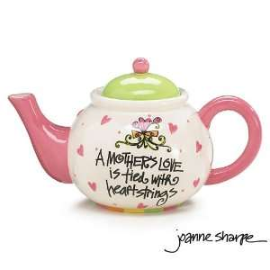 Whimsical Mothers Love Teapot With Hearts Designed By