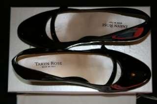 TARYN ROSE NEW PATENT BLACK PUMP LETI ITALY SALE