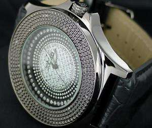 Genuine 12 Diamond Watch Ice MAXX Black Hip Hop Bling