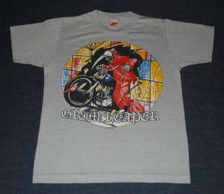 VTG GRIM REAPER FEAR NO EVIL AMERICAN TOUR SHIRT 1985 M